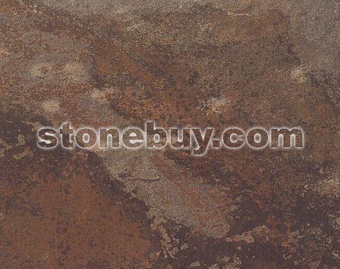 霞云岭锈板石, S1118, Xiayunling Dark Green Slate