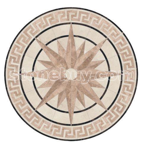 广场铺地拼花贴图; 圆形地面拼花效果图
