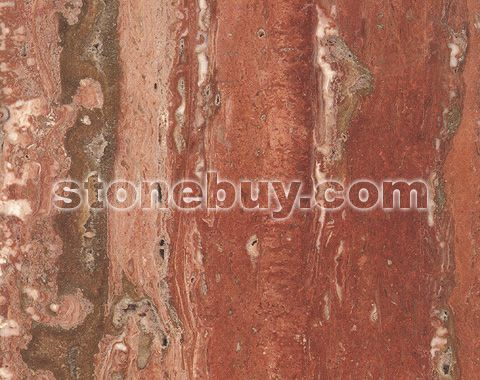 红窿石, Red Travertine
